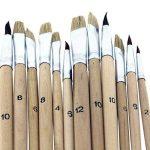 Ensemble Palette en Bois et 12 Pinceaux par Kurtzy - Lot de Pinceaux et Palette pour Peinture Acrylique - Parfaits pour les Loisirs Créatifs et Artistiques pour les Professionnels et les Amateurs de la marque Kurtzy image 3 produit