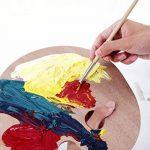 Exerz CE0017 Ensemble de Pinceaux et Palette - 6 pinceaux - 12 peintures acryliques non toxiques x 12ml - Palette en bois / Tout en un de la marque Exerz image 4 produit