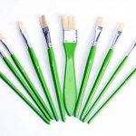 Exerz JH022 Ensemble de pinceaux pour artiste peintre - 10 pièces de Pinceaux en soie professionnels dans un étui de protection / Parfaits pour la peinture à l'huile, acrylique, ou la gouache de la marque Exerz image 4 produit