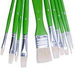 Exerz JH022 Ensemble de pinceaux pour artiste peintre - 10 pièces de Pinceaux en soie professionnels dans un étui de protection / Parfaits pour la peinture à l'huile, acrylique, ou la gouache de la marque Exerz image 5 produit