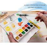 Ezigoo Boîte de Peinture Aquarelle Format de Poche — Boîte d'Aquarelle Set de 12 Démi-Palettes de la marque Ezigoo image 2 produit