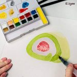 Ezigoo Boîte de Peinture Aquarelle Format de Poche — Boîte d'Aquarelle Set de 12 Démi-Palettes de la marque Ezigoo image 4 produit