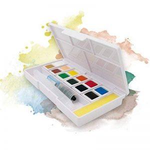 Ezigoo Boîte de Peinture Aquarelle Format de Poche — Boîte d'Aquarelle Set de 12 Démi-Palettes de la marque Ezigoo image 0 produit