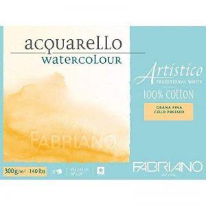 Fabriano ATW BL 4CO 10F GF Papier aquarelle 45,5 x 61 cm Blanc de la marque Fabriano image 0 produit