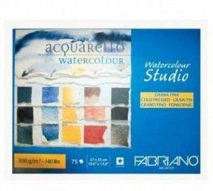 Fabriano Bloc de 75 feuilles de papier pour peinture aquarelle, 300 g/m² de la marque Fabriano image 0 produit