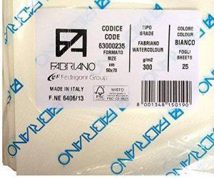 Fabriano - Papier pour aquarelle - surface pressée à froid (NOT) - 300 g/m² - 70 x 50 cm - 25 feuilles de la marque Fabriano image 0 produit