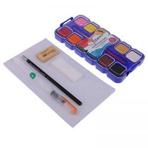 Fenteer Set Peinture Portable Aquarelle 12 Couleur Artiste Peint Kits Avec Boîtier En Plastique de la marque Fenteer image 0 produit