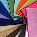 Feutre acrylique Tissu non tissé pas doux Diy Artisanat Travail Patchwork Couture Couleur mélangée 1 mm Tissu épais (10cm x 10 cm, 44pcs) de la marque SuperHandwerk image 3 produit