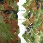 Filet De Camouflage,2X3M 210D Professionnel Armée Militaire Chasse Forêt Filet de Camouflable pour Camping , Soleil en Plein Air, Thème Parti Décoration, Voiture Couvre de la marque IDEAW image 2 produit