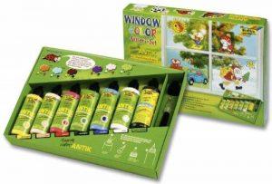 Folia 45007 - Lot de 7 tubes de peinture vitrail Window Color Funny ANTIK de la marque Folia image 0 produit