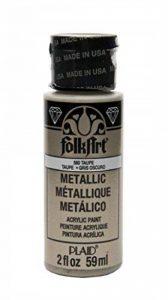 Folk Art Peinture acrylique métallique, couleurs assorties (60 ml), 6102, Or Rose 2 Ounce Marron taupe de la marque Folk Art image 0 produit