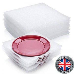 Fournitures d'emballage 50-count Coussin Feuilles de mousse en toute sécurité Wrap pour protéger Lunettes de vaisselle en porcelaine Assiettes objets fragiles pour déplacer des boîtes 30,5x 30,5cm par Veda de la marque VEDAprotect image 0 produit