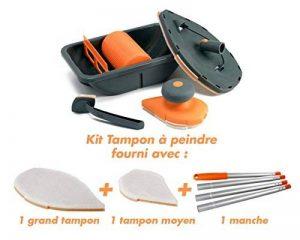 Génial - Kit Complet tampon à peindre: kit rouleau peinture bac - 1 raclette anti-goutte - 1 manche - 1 grande recharge - 1 recharge medium - tampon de finition de la marque Génial image 0 produit