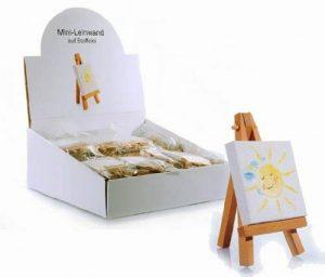 Geschenkestadl Lot de 10mini toiles sur châssis et chevalet pour peinture, bricolage... de la marque Geschenkestadl image 0 produit