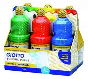 Giotto 530900–Assortiment 6flacons de 1litre Gouache prête schoolpaint–Lavable de la marque Giotto image 0 produit