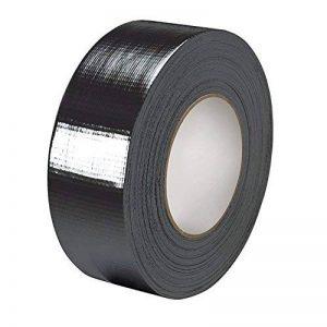 Gocableties Ruban adhésif toilé, noir, de qualité supérieure, 48mm x 50m, ultra résistant (5,1cm) rouleau de ruban adhésif toilé de haute qualité de la marque Gocableties image 0 produit