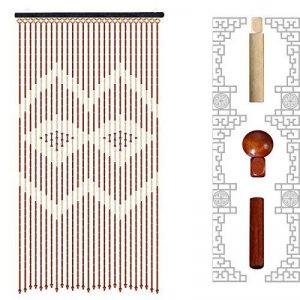 GONGFF Rideau Perlé en Bois Screen35 * 70In, Réseau De Protection De Moustique De 90X180cm,#1,35*70In de la marque GONGFF image 0 produit