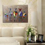 GOTTING Huile abstraite Cartoon zèbre peinture colorée mur décoratif en toile Photos Art Non Encadré Huile Dessin Affiches de la marque GOTTING image 4 produit