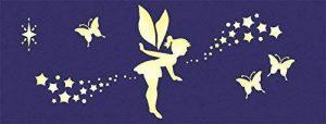 GRAINE CREATIVE Pochoir Idéal Peinture Phosphorescente Fée Et Papillon de la marque GRAINE CREATIVE image 0 produit