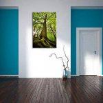 Grand arbre dans la jungle Format: toile 100x70auf, XXL énormes Photos complètement encadrés par la civière, l'impression de l'image Art mural avec cadre, moins cher que peintures à l'huile et de l'image, aucune affiche ou poster de la marque Pixxprint image 3 produit