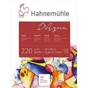 Hahnemühle - D'aqua -Bloc papier pour peinture aquarelle - 30X40cm - 220 g/m² de la marque Hahnemühle image 0 produit