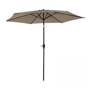 Happy Garden Parasol droit HAPUNA rond 2,70m de diamètre taupe de la marque Happy Garden image 0 produit