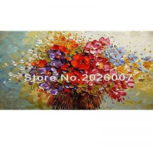 Haute qualité peinte à la main Paysage abstrait Palette Cherry Arbre Paysage Peinture murale Maison Salon Art, Toile, 24x48inch(60x120cm) de la marque Orlco Art image 0 produit