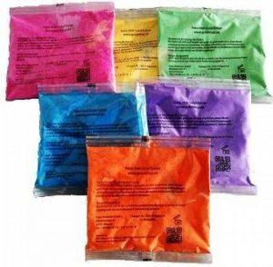 Holi Gulal poudre - poudre de couleur Gulal - SET 6 couleurs de la marque Pabo Holi Gulal Pulver image 0 produit