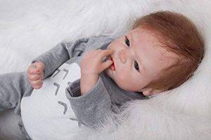 HOOMAI 22inch 55 CM pas cher Poupées reborn bébé garcon soft Silicone réaliste reborn baby dolls Magnétisme Jouet girls toy de la marque HOOMAI image 0 produit