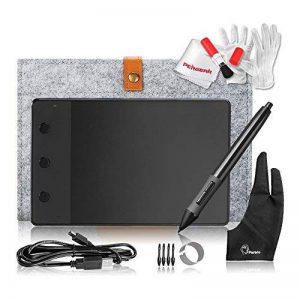 Huion H420USB Motif art graphique Dessin Tablette Planche à stylo numérique avec 3 Touches de Raccourcis Express avec Stylet Sans-fil a Pile, 10cm x 5.6cm ( 4 ''x 2.23 '') Windows Mac de la marque Huion image 0 produit