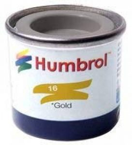 Humbrol 14ml No. 1 Tinlet Enamel Paint 16 (Gold Metallic) de la marque AB Gee image 0 produit