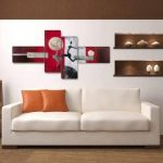 Image sur toile 6810 195 x 80 cm XXL optique peints à la main Tableaux pour la mur, encadrés, prêts à poser, tout les images sur châssis géant bois véritable. de la marque Visario image 2 produit