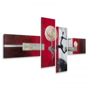 Image sur toile 6810 195 x 80 cm XXL optique peints à la main Tableaux pour la mur, encadrés, prêts à poser, tout les images sur châssis géant bois véritable. de la marque Visario image 0 produit