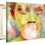 Impression Giclée sur Toile en Grand Format – Bubblegum Girl – 100x75cm - Photo sur Toile Tendue sur Châssis en bois – Tableau Artistique Contemporain – Image Déco d'Art Murale Prêt à Accrocher de la marque Gallery of Innovative Art image 1 produit