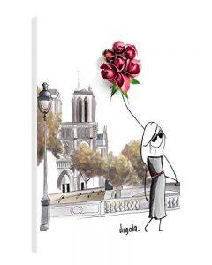 Impression Giclée sur Toile en Grand Format – PARIS FASHION – 60x80 cm – Virgola Art – Photo sur Toile Tendue sur Châssis en bois – Tableau Artistique Contemporain – Image Déco d'Art Murale Prêt à Accrocher de la marque Gallery of Innovative Art image 0 produit