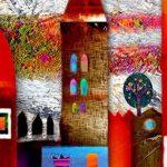 Impression sur toile 100x50 cm - TOP -5 pieces - Image sur toile - Images - Photo - Tableau - motif moderne - Décoration - tendu sur chassis – ville coloré abstraction abstrait maisons d-A-0052-b-m 100x50 cm B&D XXL de la marque BD XXL image 4 produit