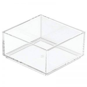 InterDesign Clarity rangement de tiroir, petit range couverts en plastique, organiseur de tiroir pour couverts et autres ustensiles, transparent de la marque InterDesign image 0 produit