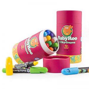 Jar Melo Crayons Soyeux-12 Couleurs Rotatives Lavables Non Toxiques Effet 3 En 1 (Crayon-Pastel-Aquarelle) de la marque Jar Melo image 0 produit