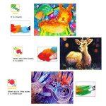 Jar Melo Crayons Soyeux-12 Couleurs Rotatives Lavables Non Toxiques Effet 3 En 1 (Crayon-Pastel-Aquarelle) de la marque Jar Melo image 2 produit