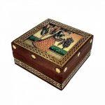 Jardin des arts vintage Boîte en bois de sheesham Bois et laiton Box Peinture sur verre Décoration Asiatique écrasé Boîte de pierre précieuse à bijoux/boîte souvenir Jewelry de la marque Garden Of Arts image 3 produit