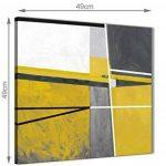 Jaune moutarde Gris Peinture Accessoires de Cuisine Art Sur Toile–abstrait 1s388s–49cm carré Imprimé Wallfillers de la marque Wallfillers image 2 produit