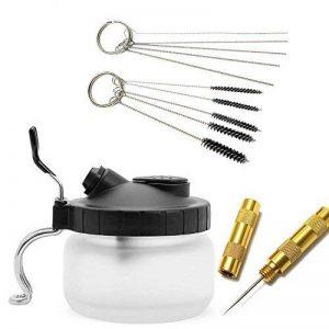 JOYOOO 4 SET aérographe pistolet lavage nettoyage outils -Pot de nettoyage, brosses de nettoyage, nettoyage des aiguilles,Aiguille nettoyage de la marque JOYOOO image 0 produit