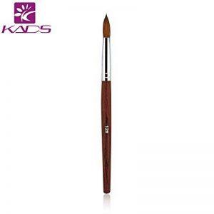 Kads 100% acrylique de martre Kolinsky Nail Art Brosse en bois Rouge Pen Brosse à ongles pour nail art manucure Outil -12,14,16# de la marque KADS image 0 produit