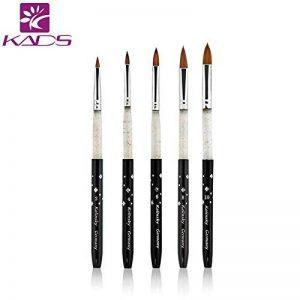 KADS 5 PCS Nail Art Brosse de 2 4 6 8 10 Acrylique Pinceau Pour Déco Ongle Gel UV Liner Résine Manucure kolinsky sable acrylic nail brush de la marque KADS image 0 produit