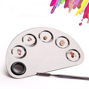 Kalolary Palette cosmétique de palette de maquillage avec l'outil de mélange de spatule (acier inoxydable, argent) de la marque Kalolary image 0 produit