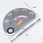Kalolary Palette cosmétique de palette de maquillage avec l'outil de mélange de spatule (acier inoxydable, argent) de la marque Kalolary image 1 produit