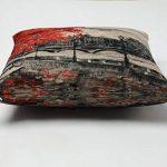 KateHome PHOTOSTUDIOS Peinture à l'huile Rouge Arbre décoratif Taie d'oreiller 45 x 45 cm en coton et lin Couvre-lit Taie d'oreiller Housses de coussin de la marque KateHome PHOTOSTUDIOS image 1 produit
