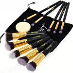 Kit de Pinceau maquillage Professionnel 10 PCS Ombre à Paupière Doré Blush Fondation Pinceau Poudre Fond de teint Anti-cerne Kit Pinceaux avec sac de la marque SUNNICY image 5 produit