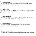 Kit de Pinceau maquillage Professionnel 10 PCS Ombre à Paupière Doré Blush Fondation Pinceau Poudre Fond de teint Anti-cerne Kit Pinceaux avec sac de la marque SUNNICY image 4 produit