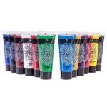 Kit de Tubes de Peinture Acrylique Craftamo 12 x 27ml. Kit de Peinture Acrylique Pour Utilisation Sur Toile, Comme Peinture de Tissu, Peinture de Modèles, Peinture de Verre, Peinture à l'Argile ou Pei de la marque Craftamo image 3 produit